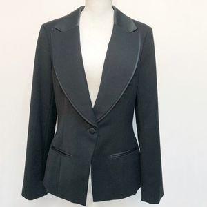 WHBM Black Tuxedo-Style Blazer Jacket
